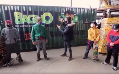 Bagno aporta un camión de fruta a fundación Vive Skate